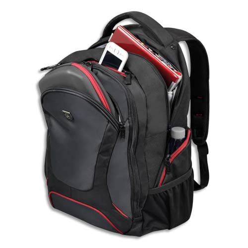 "Code 319754, Désignation: PORT DESIGN Sac à dos Courchevel Back Pack 17,3"" en nylon 600D - Dimensions : L36 x H55 x P22 cm noir"